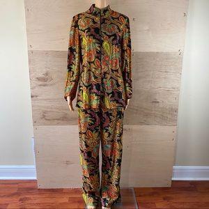 Vintage 70's NPC Fashions Psychedelic Pajama Set